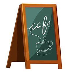 Cafe signage vector