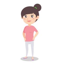 Character of mother standing design vector