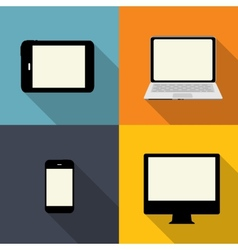 Computing Concept on Different Electronic Devices vector image vector image
