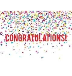 Congratulations Confetti vector image vector image