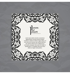 Design template business card with monogram circle vector