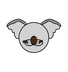 drawing koala face animal vector image vector image