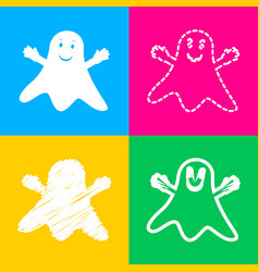 Ghost isolated sign four styles of icon on four vector