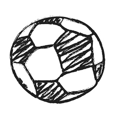 Hand draw football ball vector image