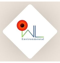 Logo environmental vector image