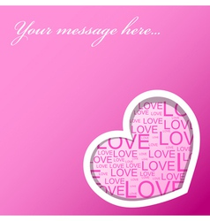love card with heart vector image