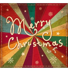 Merry christmad greeting card cover vector
