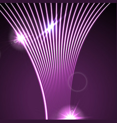Neon glowing laser wavy lines abstract background vector