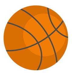 Orange basketball ball icon isolated vector