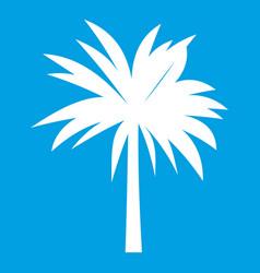 Palm icon white vector