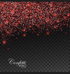 Red glittering star dust vector