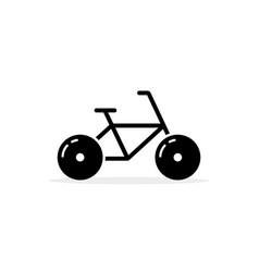 simple black bicycle icon vector image vector image
