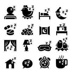 Sleep icon set vector