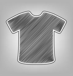 t-shirt sign pencil sketch imitation vector image