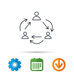 teamwork icon office working process sign vector image