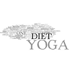 that s not yoga if one eats like that text vector image vector image
