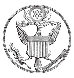 the great seal of the united states vintage vector image vector image