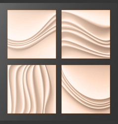 wavy silk abstract background abstract vector image vector image