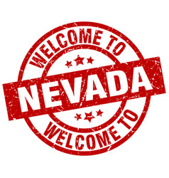 welcome to nevada red stamp vector image vector image