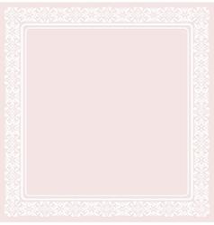 White elegant frame vector