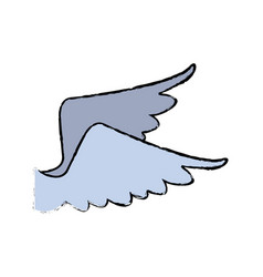 wing feather bird angel icon vector image