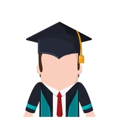 Boy graduation cap design vector