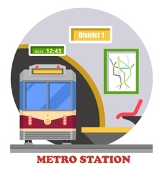 Metro subway rapid transit or heavy rail vector image