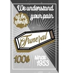 Color vintage funeral poster vector