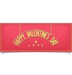 Beautiful valentines day design lettering vector