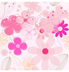 Flower vintage seamless background vector