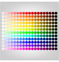 Color palette with shade of colors vector