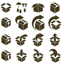 Packaging boxes icons isolated on white background vector