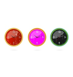 wall clocks vector image