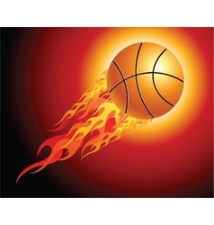 Fiery basketball ball vector