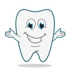 Cute cartoon teeth vector image
