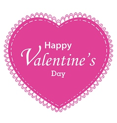 Valentines day and pink heart isolated on white vector