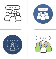 Conference icons vector