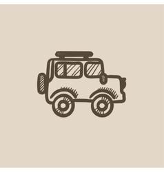 Car sketch icon vector image