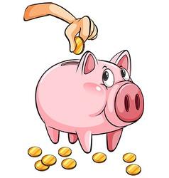 A piggy bank vector