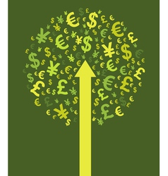 Abstract money tree vector image vector image