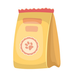Animal feed packagepet shop single icon in vector