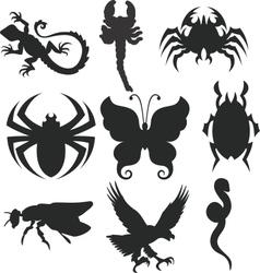 Animals shiluettes vector