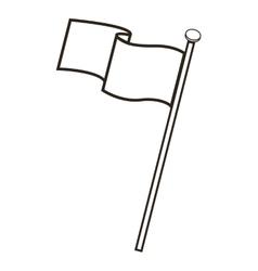 Blank flag icon vector