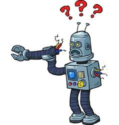 Broken robot vector