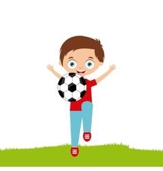 Cartoon happy kid vector