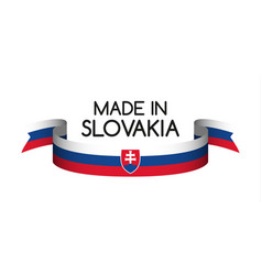 Colored ribbon with the slovak tricolor vector