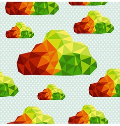 Colorful geometric clouds seamless pattern vector