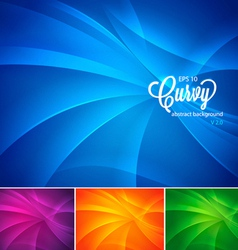 Curvy abstract background vector image vector image