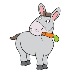 Cute donkey vector image vector image
