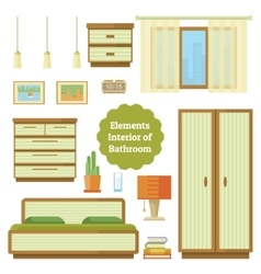 Element of the interior bedroom vector